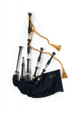 Great Highland Bagpipe - P. Henderson Mod.02 Engraved Nickel