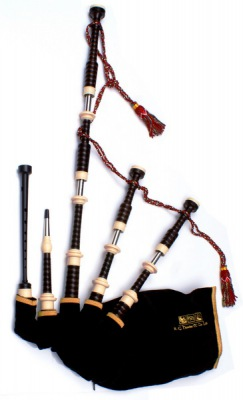 Great Highland Bagpipe - RG Hardie Mod.03 Full Imitation Ivory