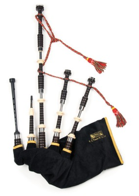 Great Highland Bagpipe von RG Hardie Modell 04 Beaded Plain Nickel